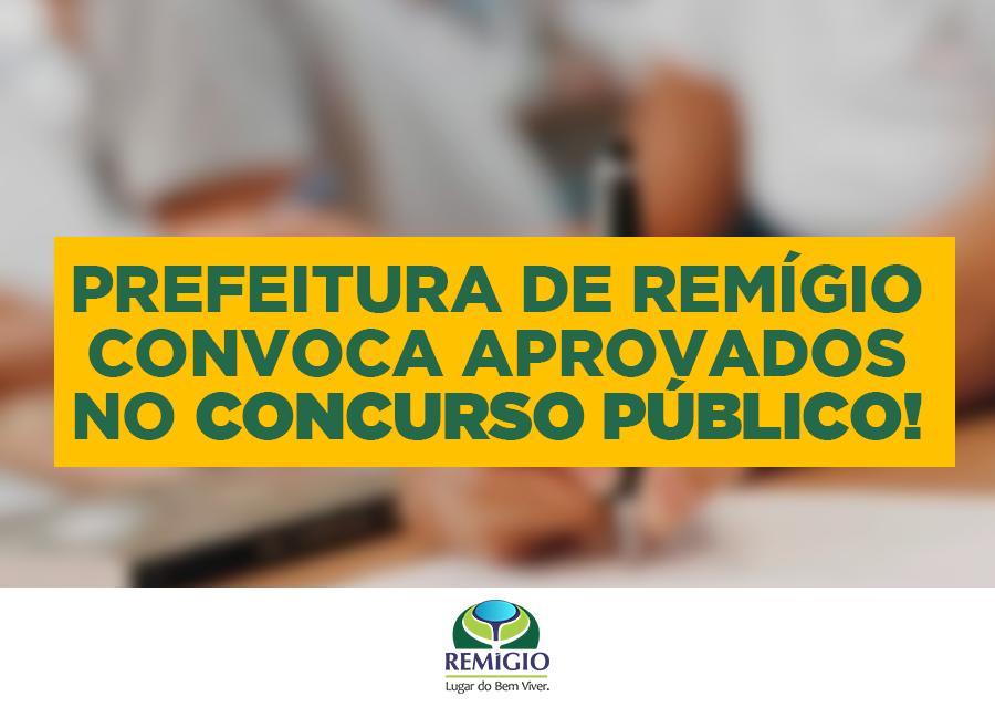Prefeitura de Remígio faz nova convocação de concursados
