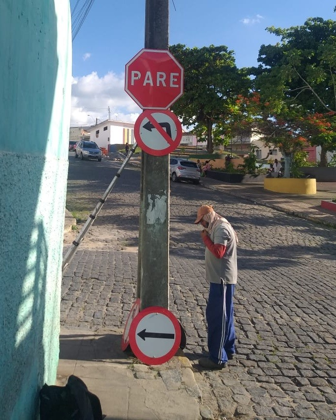 🛑Revitalização da sinalização vertical