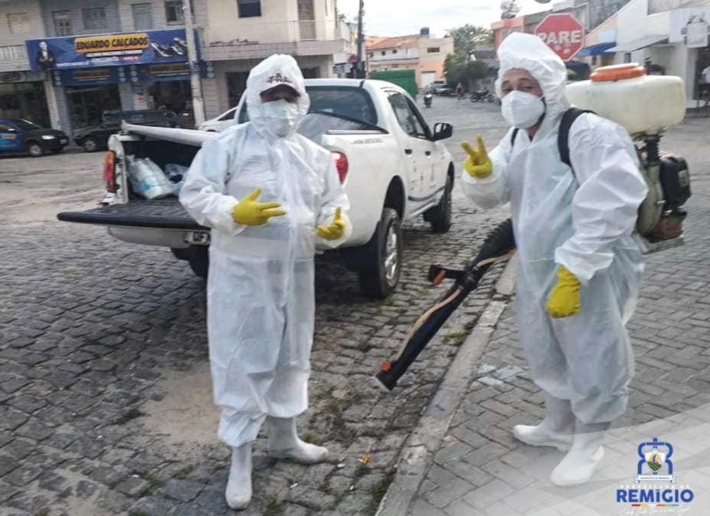❗Ações de desinfecção, higienização das vias públicas e fiscalização 🕵