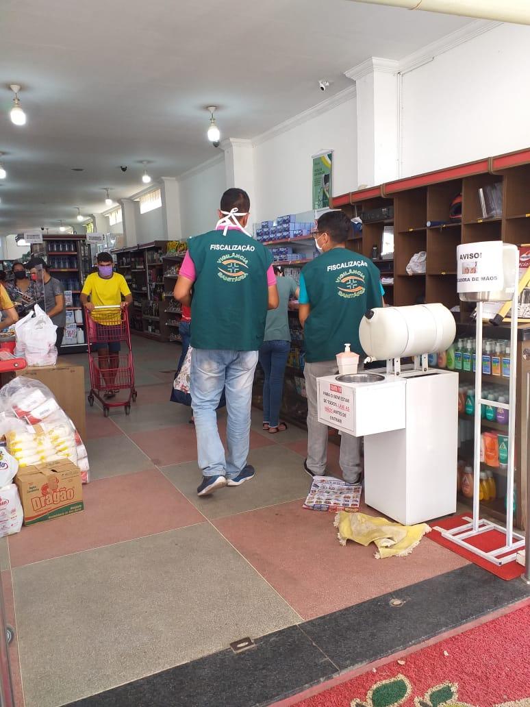 Vigilância Sanitária realiza Vistoria nos Estabelecimentos Comerciais em Remígio