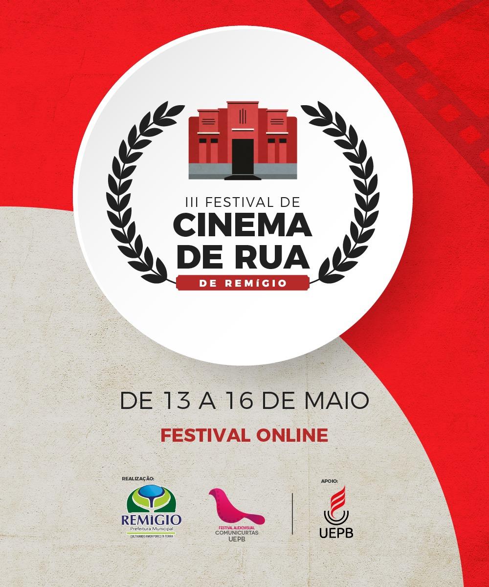 O Festival de Cinema vai acontecer de forma Online.