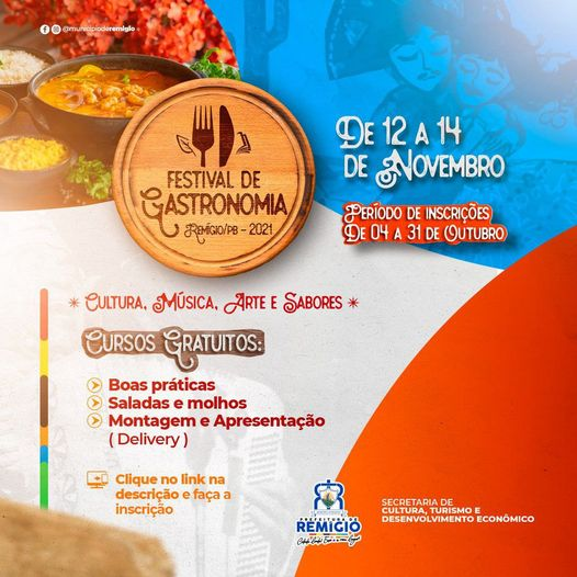 🍲 Festival de Gastronomia em Remígio: cultura, música, arte e sabores 🌬