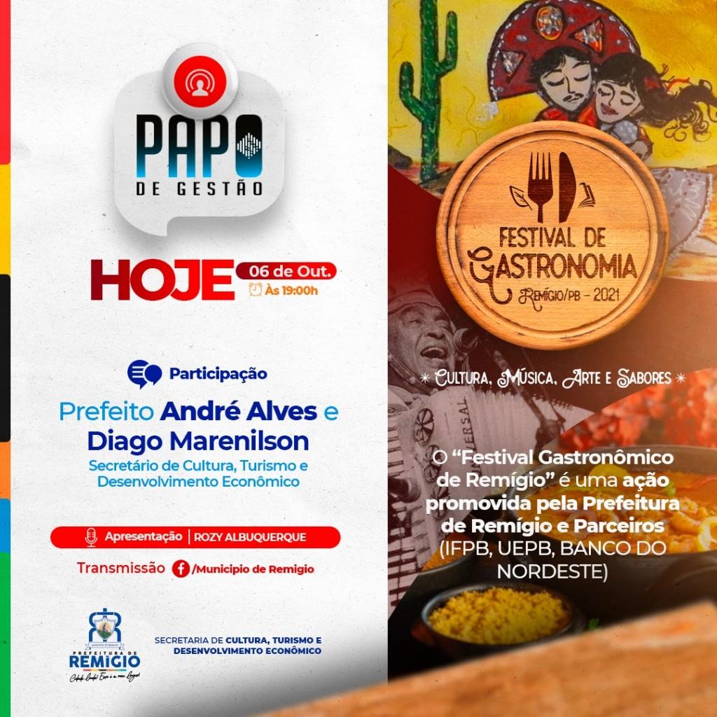 🎬 Papo de gestão: festival de Gastronomia em Remígio 🥘