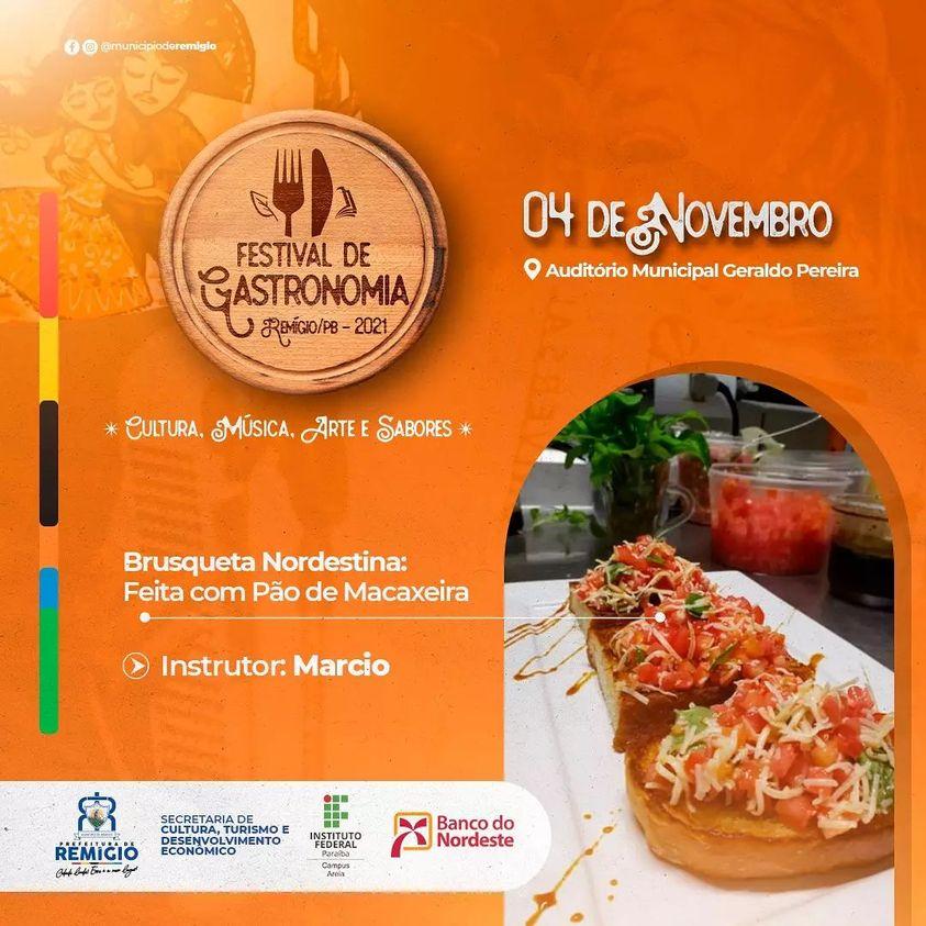 🥘🌮🥙Curso de brusqueta - I Festival de Gastronomia de Remígio