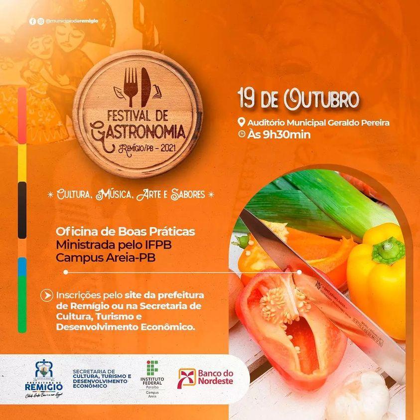 🥘 Oficina de Boas Práticas - I Festival de Gastronomia de Remígio